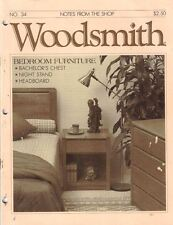 Woodsmith 1984 No 34 Bedroom Furniture Bachelor's Chest Night Stand Headboard