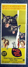 EYE OF THE CAT Original 1960s DB Movie Poster Gayle Hunnicutt, Michael Sarrazin