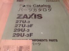 Hitachi zaxis 27-u parts books