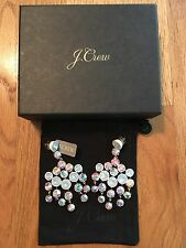 NWT J Crew Crystal Chandelier Statement Earrings White $78 E9091 Retail