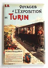Turin Italy FRIDGE MAGNET (2 x 3 inches) travel poster train