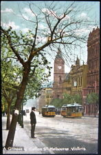 AUSTRALIA~1900's MELBOURNE ~ Collins Street ~ Yellow Trolleys