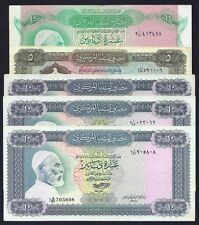 Libya LOT 5  PCS 10 +5  DInnars  1980 + 1972  P-37+ 46 +36  VF + EF