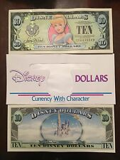 DISNEY DOLLARS $10 - 1987-2007 CINDERELLA 20th ANNIVERSARY - 1 Bill & 1 Envelope