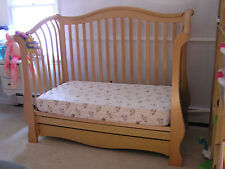 PALI Juliana Wood Toddler's Day Bed converts to Double bed - 100% Natural Maple