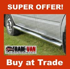 FORD TRANSIT CHROME SIDE BARS STEPS SIDESTEPS B2 STAINLESS STEEL 2000-13 MK6 MK7