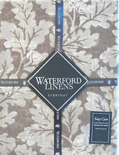 Waterford Easy Care Stain Resistant Tablecloth Oakleaf Taupe Brown 60 x 84 - NEW