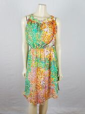 MILLY OF NEW YORK 100% multi-colored Summer Elastic Waist Dress size 0