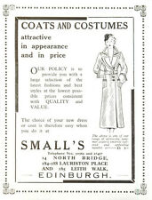 1954 Small's Coats Costumes Northbridge Edinburgh Ad