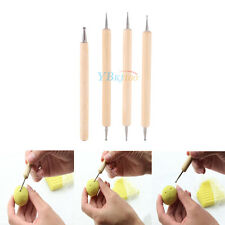 Pack of 4Ball Stylus Polymer Clay Pottery Ceramics Sculpting Tools Embossing Kit