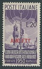 1950 TRIESTE A RADIODIFFUSIONE 20 LIRE MH * - P18