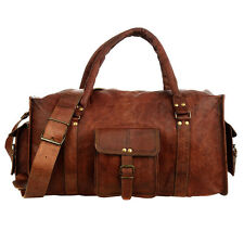 Fair Trade Handmade Extra Large Brown Leather Holdall
