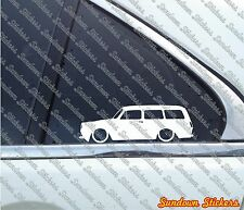 2x Lowered car outline stickers - for Volkswagen VW Type 3 Squareback ,wagon