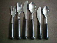 Denby Regency Ribbed Chocolate Individual Cutlery Pieces