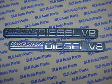 Ford Power Stroke Diesel V8 Super Duty Fender Emblem  OEM  Set of 2