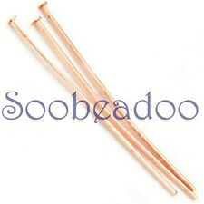 Shiny Copper Headpins 200 24g 25mm 1in Headpin Head Pins