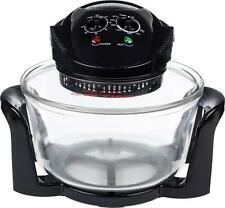 Andrew James 12 LTR Halogen Oven Premium Convection Cooker Black 1300 Watts