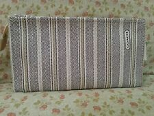 NWT Coach Legacy Stripe Cosmetic Bag