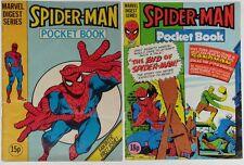 SPIDER-MAN #1 + 13~DIGEST~MARVEL COMICS UK~1981~STEVE DITKO~ANDRU~GHOST RIDER