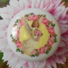 ROSES Wreath ANGEL GIRL Ceramic knob drawer door cabinet kitchen office desk