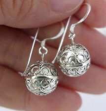 small 925 sterling silver harmony ball earring jingle muscial chime earring hh01