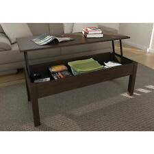 Black Lift Top Coffee Table Storage Living Room Furniture Espresso