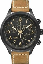 Timex Intelligent Quartz Fly-Back Chronograph Watch Tan/Black