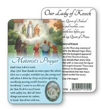 OUR LADY OF KNOCK MOTORISTS PRAYER LAMINATED CARD WITH RESIN DROP PICTURE