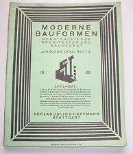 Heft Moderne Bauformen Architektur Raumkunst 1929 April Heft !