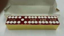 "Casino Quality Sand Finished Red Stick of 5 Precision Dice 3/4"" A Grade New"