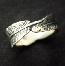 JAMES AVERY STERLING Studio Leaves Ring sz 8
