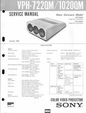 Sony Original Service Manual für Color Video Projektor VPH- 722/1020 QM