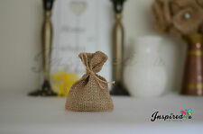 10 x Mini Hessian Burlap Favor Bags Wedding Rustic Burlap Bag  6 x 9 cm