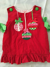 Mud Pie Baby Christmas Dress Red Corduroy 12 18 months