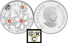 2011 'Hyacinth Small Crystal Snowflake'  $20 Silver Coin .9999 Fine (12877)