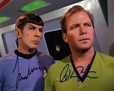 Star Trek William Shatner & Leonard Nimoy Autographed 8x10 Signed Photo Reprint