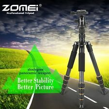 Q666C Pro Digital Camera Tripod Carbon Fiber Monopod Ball Head For Travel Camera
