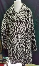 GORGEOUS Leopard Print BANANA REPUBLIC Italian Fabric Winter Coat Jacket SMall