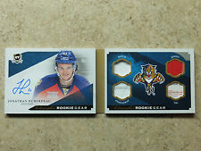 13-14 UD The Cup Rookie RC Gear Booklet Auto Patch Tag JONATHAN HUBERDEAU /25