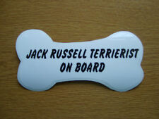 Jack Russell TERRIERIST on Board car window / bumper sticker