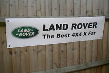 Land Rover 4x4 x far banner for workshop or garage use