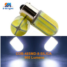 50Pcs 12V 24V COB 48 SMD 8 SILICA LED 1156 BA15S Bulb Turn Light Tail Lamp 960LM