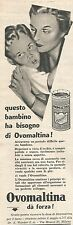 W8845 OVOMALTINA dà forza - Pubblicità del 1958 - Vintage advertising