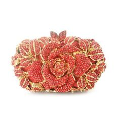 New Women Lady Rose Flower  Party Purse Clutch Evening Bag Bridal Handbag Pouch