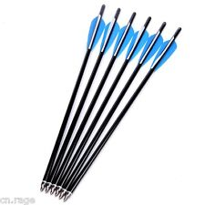 "6 Pcs Aluminum Arrows 17"" Crossbow Bolts for Hunting Crossbow Archery toxophily"