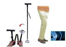 FOLDING WALKING STICK HEIGHT ADJUSTABLE CANE LIGHTWEIGHT LED LIGHT & ALARM