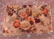 "French Deco Linen Bird & Floral Home Fabric/Print~18""LX31""W~Pillow,HomeDec"