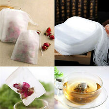 100X non-woven Empty Teabags String Heat Seal Filter Paper Herb Loose Tea Bag