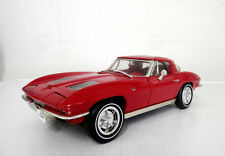 1:18 Ertl American Muscle Chevy Red 1963 Corvette Sting Ray Item 7359
