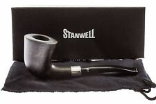 Stanwell Army Mount Black 405 Tobacco Pipe - Smooth